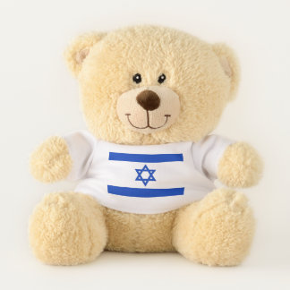 Drapeau patriotique d'ours de nounours de l'Israël