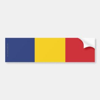 Drapeau simple de la Roumanie Autocollant De Voiture