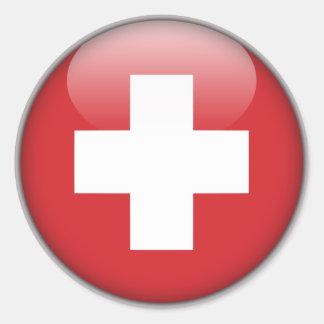 Drapeau suisse - drapeau de la Suisse Sticker Rond