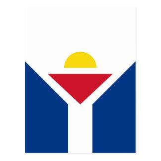 Drapeau von St Martin - Flagge von St Martin Postkarte