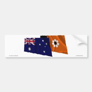 Drapeaux de ondulation de l'Australie et du territ Adhésif Pour Voiture