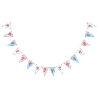 Drapeaux d'étamine de triangle de ballons à air