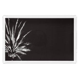 Drastische Palme-Nachtschwarzweiss-Foto Acryl Tablett