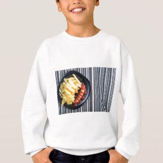 Draufsicht des russischen nationalen Tellers Sweatshirt