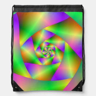 Drawstring-Taschen-psychedelische Spirale Turnbeutel