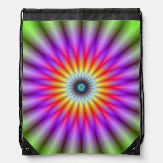 Drawstring-Taschen-   Rad der Farbe Turnbeutel