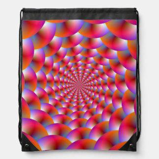 Drawstring-Taschen-   Spirale der Bereiche Turnbeutel