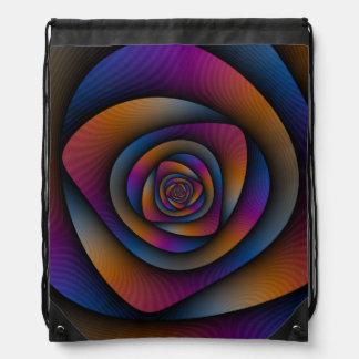 Drawstring-Taschen-    Spiralen-Labyrinth Turnbeutel