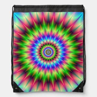 Drawstring-Taschen-   stachelige Farbexplosion Turnbeutel