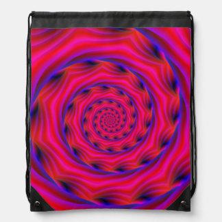 Drawstring-Taschen-violette und Blau-Spirale Turnbeutel