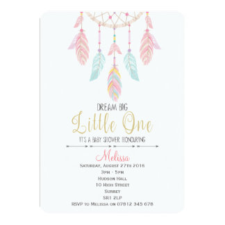 Dreamcatcher Boho Babyparty-Einladung Karte