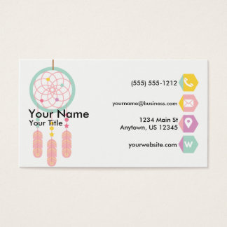 Dreamcatcher Pastell Visitenkarte
