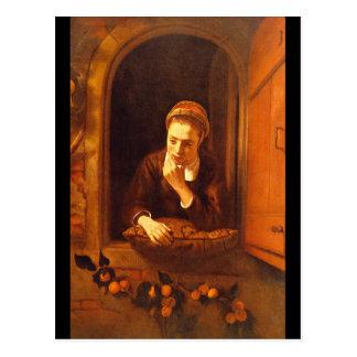 Dreaming', Nicolaes Maes_Dutch Meister Postkarte