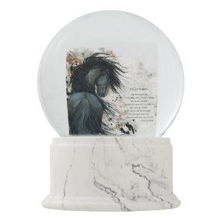 DreamWalker Pferd SnowGlobe mit Gedicht durch Schneekugel