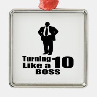 Drehen 10 wie ein Chef Silbernes Ornament
