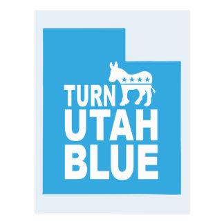 Drehen Sie Abstimmungs-Staat Demokraten Utahs Postkarte