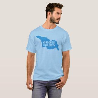 Drehen Sie blauen progressiven Staat Georgia T - T-Shirt