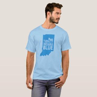 Drehen Sie blauen progressiven Staat Indianas T - T-Shirt