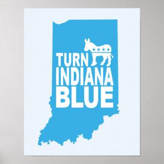 Drehen Sie blaues progressives Kunst-Plakat Poster