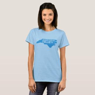 Drehen Sie den T - Shirt blauer Frauen