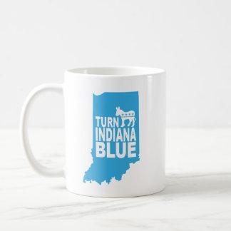 Drehen Sie Indiana blau! Progressive Kaffeetasse