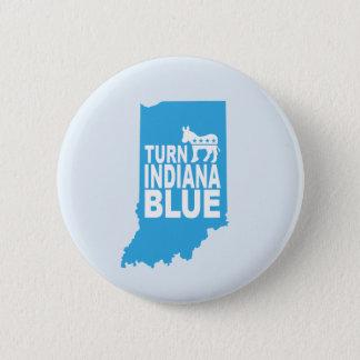 Drehen Sie Indiana, das blauer progressiver Knopf Runder Button 5,7 Cm