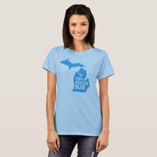 Drehen Sie Progressisten blauer Frauen Michigans T-Shirt