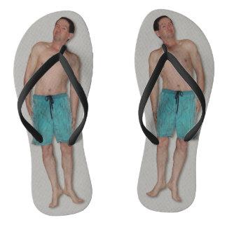 Drehen Sie Reinfälle - mit kleinem Typ - graues Flip Flops
