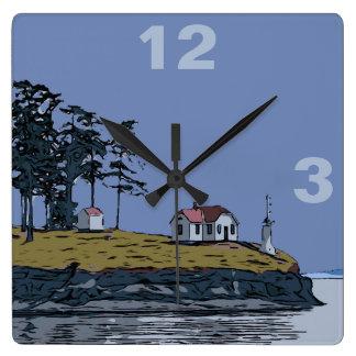 DREHUNGS-PUNKT - Stuart-Insel Quadratische Wanduhr