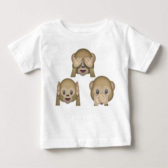 Drei Affe Emoji Baby-T-Shirt Baby T-shirt
