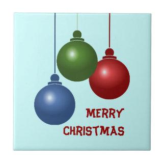 Drei Ball-Weihnachtsfliese Keramikfliese