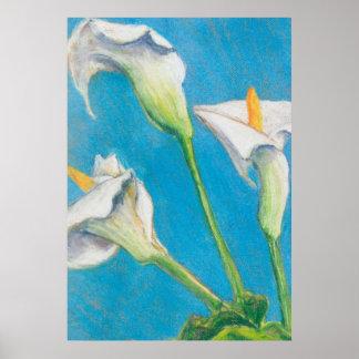 Drei Calla-Lilien-modernes Kunst-Plakat