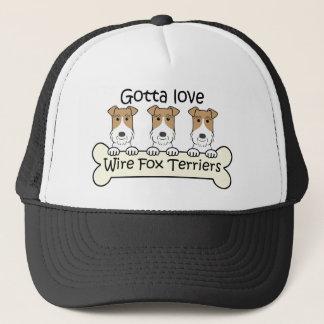 Drei Draht-Foxterrier Truckerkappe