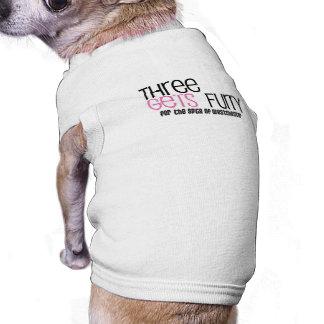 Drei erhält Pelzhündchen-Shirt T-Shirt