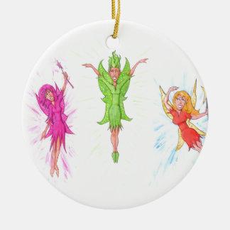 Drei Feen Keramik Ornament