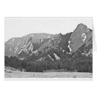 Drei Flatirons Boulder Colorado Schwarzweiss Karte