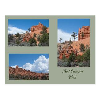 Drei Fotos rote Schlucht, Utah Postkarte