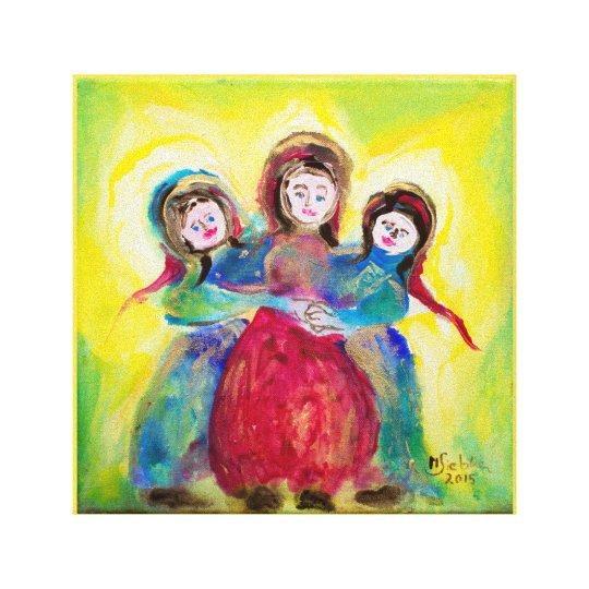Drei Frauen zum Muttertag Leinwanddruck
