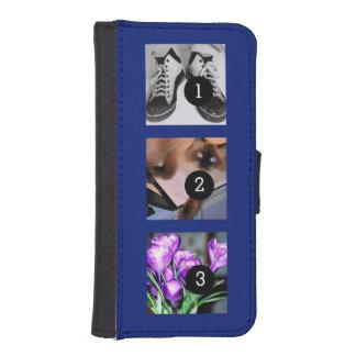 Drei Ihrer Fotos, zum von Ihrem eigenen Momento zu iPhone SE/5/5s Geldbeutel