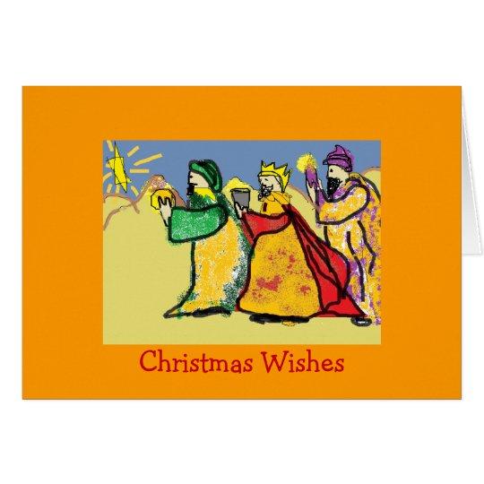 Drei Karten Könige Weihnachten