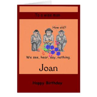 Drei klug, modern, Monkeys Geburtstagskarten Karte