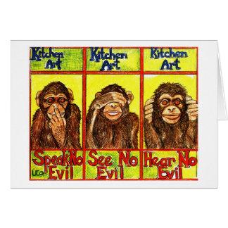Drei kluge Affen Karte