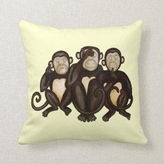 Drei kluge Affen Kissen