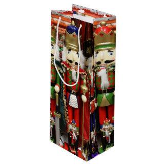 Drei kluge Cracker - Nussknacker-Soldaten Geschenktüte Für Weinflaschen