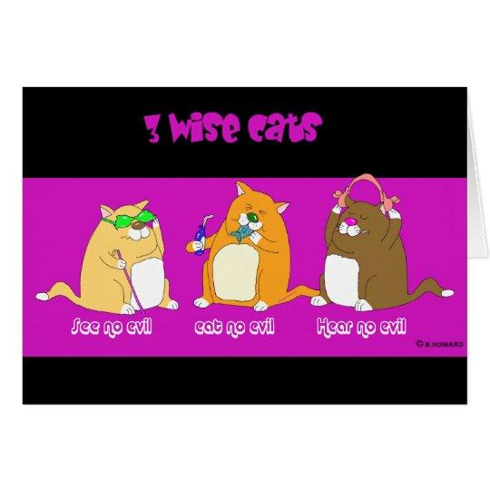 drei kluge Katzen Karte