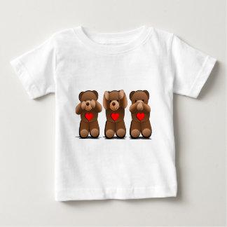 Drei kluge Teddybären, Teddybär-Druck Baby T-shirt