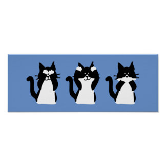 Drei kluges Kätzchen Poster