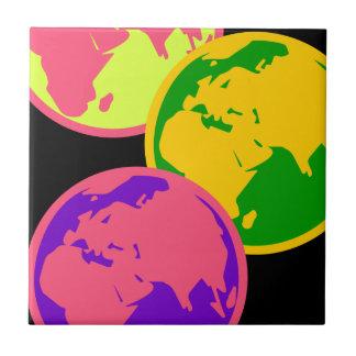 Drei Kugel-abstrakte Pop-Kunst-Illustration Keramikfliese