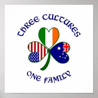 Drei Kulturen eine Familie Poster