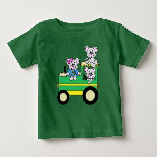 Drei Mäuse, die graue Maus spielen Baby T-shirt